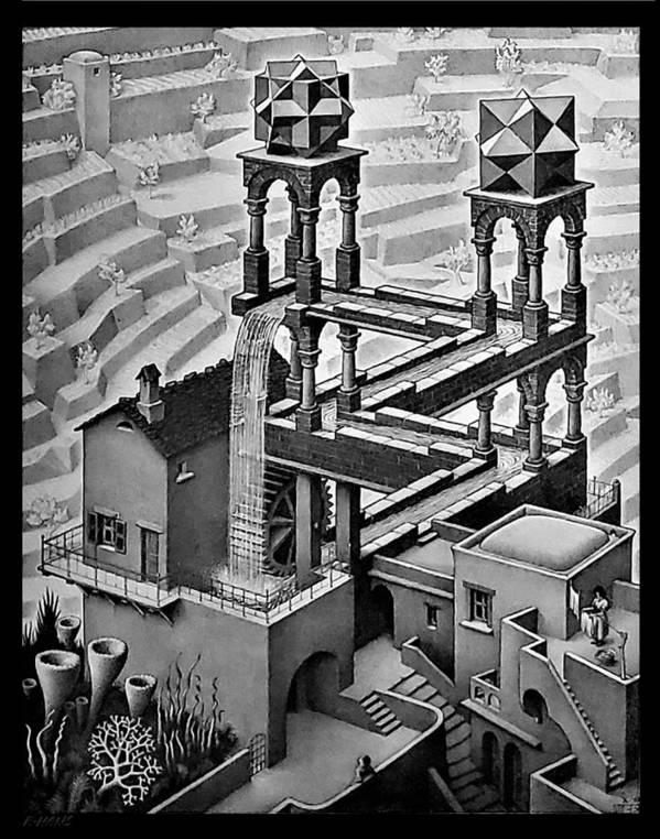 Maurits Cornelis Escher Poster featuring the photograph Escher 128 by Rob Hans