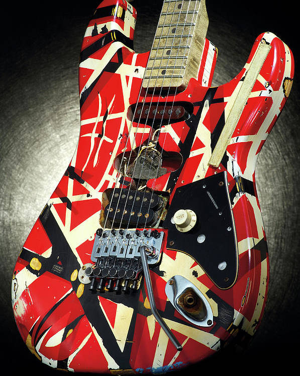 Music Poster featuring the photograph Frankenstrat Studio Shoot by Guitarist Magazine