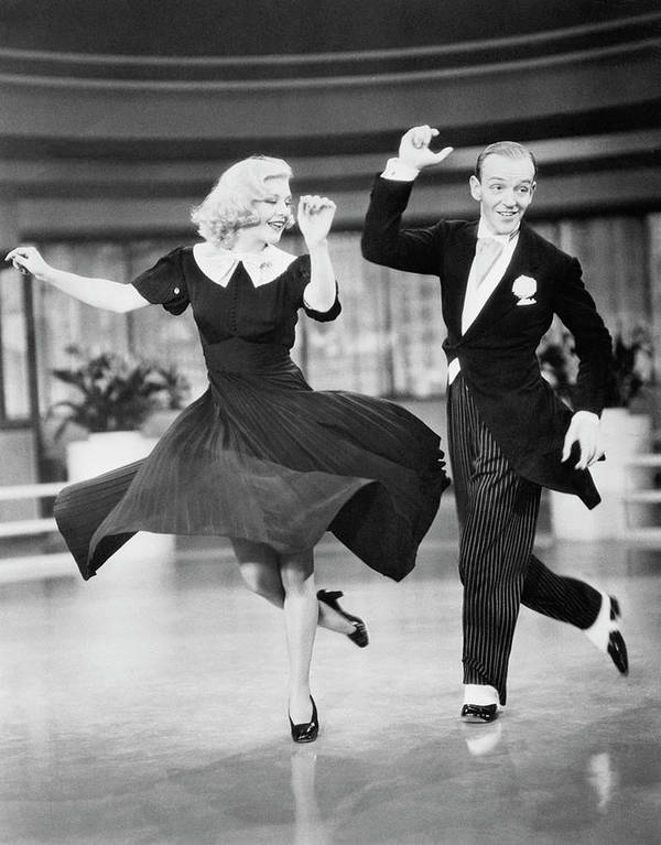 Fred Astaire And Ginger Rogers Dancing Poster By Bettmann