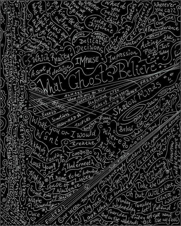 Poems Poster featuring the drawing Fun Titles For Stories Or Lines For Songs by Julia Woodman