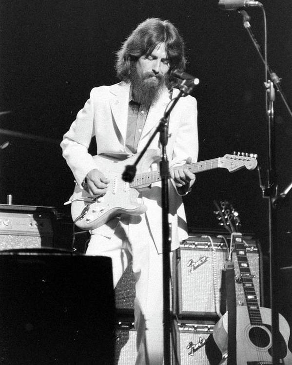 CANVAS George Harrison Playing Guitar Art Print POSTER