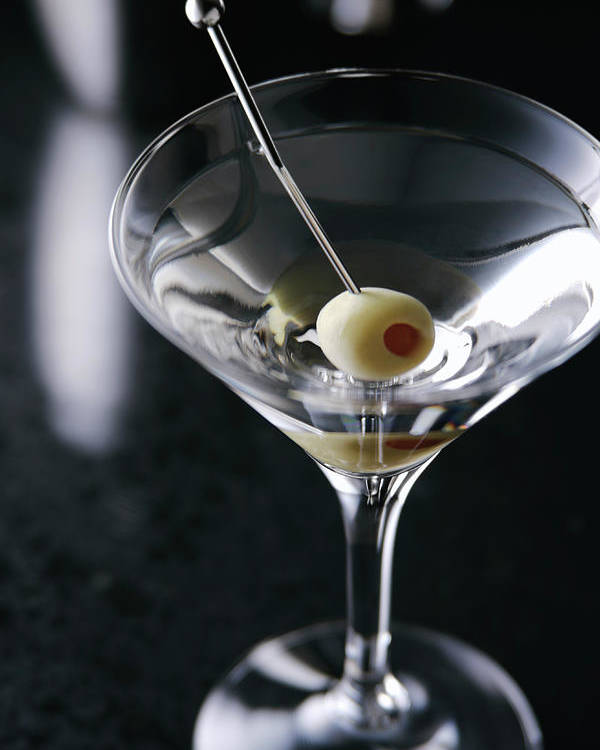 Martini Glass Poster featuring the photograph Glass Of Cocktail by Mixa Co. Ltd.