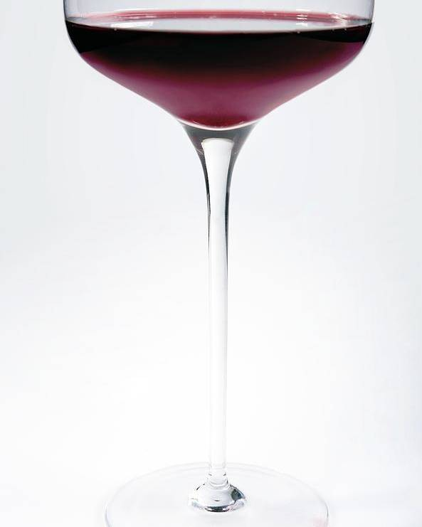 White Background Poster featuring the photograph Glass Of Red Wine by Danielzgombic