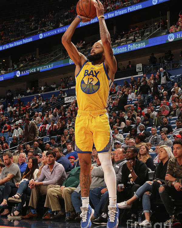 Smoothie King Center Poster featuring the photograph Golden State Warriors V New Orleans by Layne Murdoch Jr.