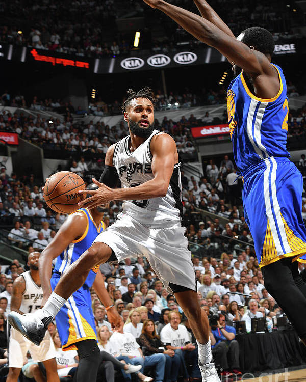 Playoffs Poster featuring the photograph Golden State Warriors V San Antonio by Jesse D. Garrabrant