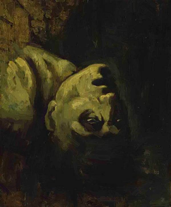 Head Poster featuring the painting Head Of A Drowned Man by Gericault Theodore