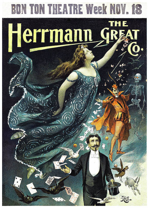 Herrmann The Great Restored Vintage Poster by Vintage Treasure