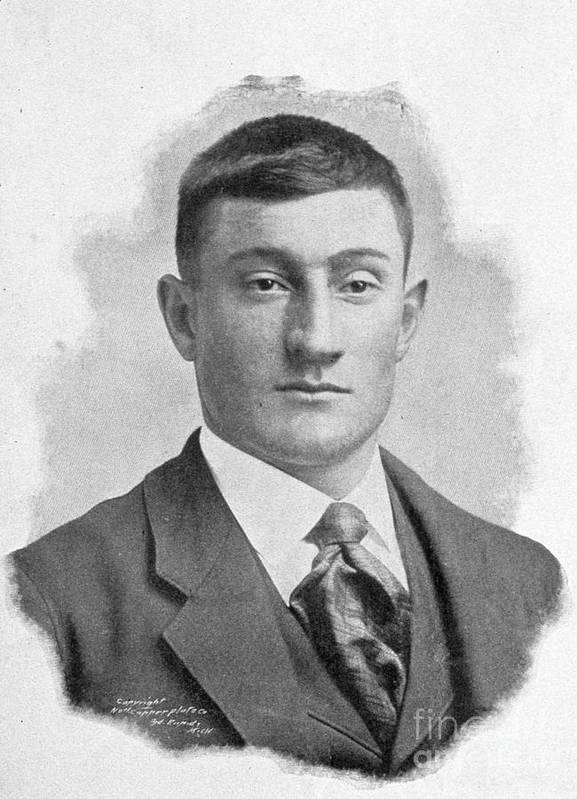 People Poster featuring the photograph Honus Wagner Louisville 1899 by Transcendental Graphics