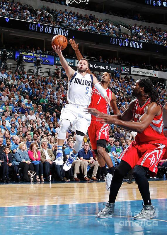Nba Pro Basketball Poster featuring the photograph Houston Rockets V Dallas Mavericks by Danny Bollinger