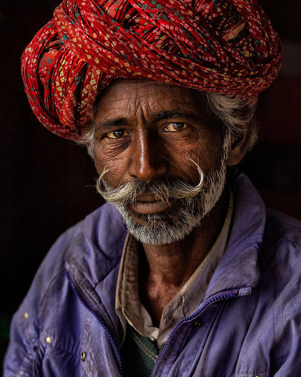 Turban Poster featuring the photograph Indian Man From Jaipur by Haitham Al Farsi