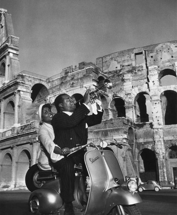 Singer Poster featuring the photograph Jazz Scooter by Slim Aarons