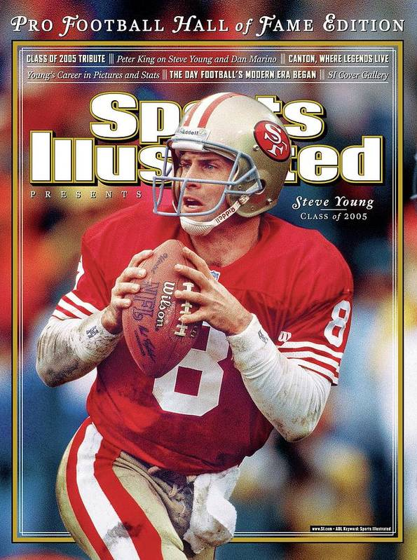 Playoffs Poster featuring the photograph Joe Montana Hall Of Fame Class Of 2005 Sports Illustrated Cover by Sports Illustrated