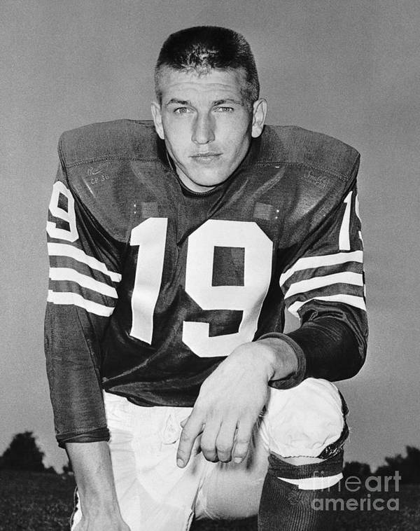 Young Men Poster featuring the photograph Johnny Unitas Of The Baltimore Colts by Bettmann