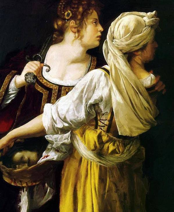 Judith Poster featuring the painting Judith And Her Maidservant 1613 by Gentileschi Artemisia