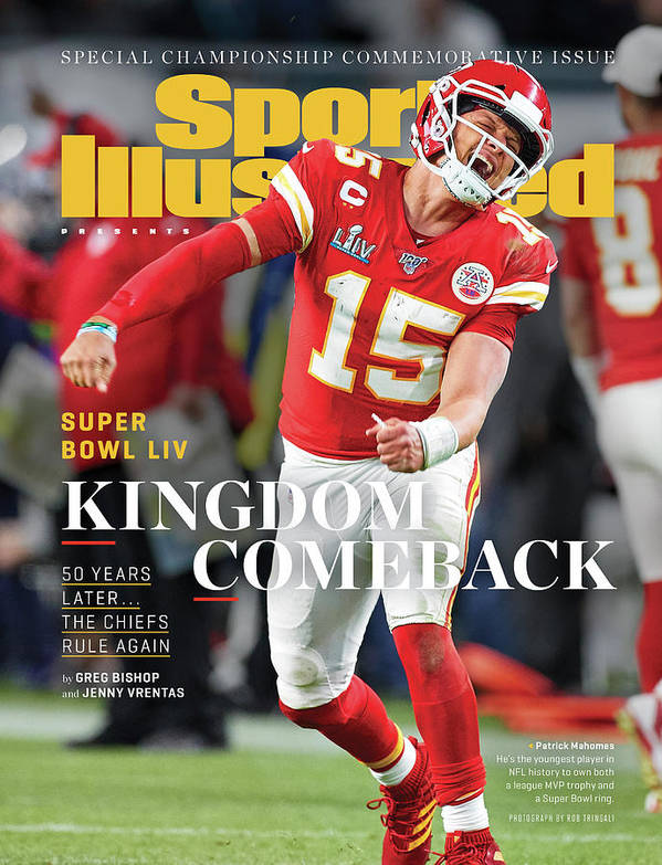 Miami Gardens Poster featuring the photograph Kingdom Comeback Kansas City Chiefs, Super Bowl Liv Sports Illustrated Cover by Sports Illustrated