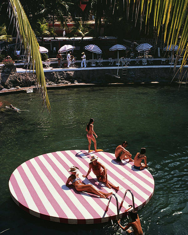 People Poster featuring the photograph La Concha Beach Club by Slim Aarons