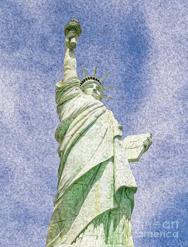 Archival Quality Prints Poster featuring the digital art Lady Liberty by Kenneth Montgomery