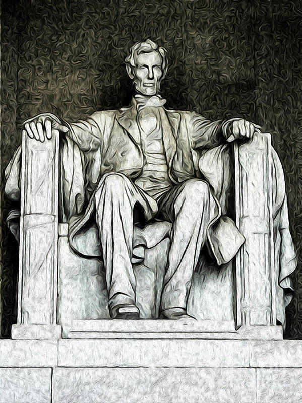 Washington Dc Poster featuring the digital art Lincoln Memorial by Kenneth Montgomery