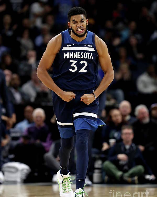 Nba Pro Basketball Poster featuring the photograph Los Angeles Lakers V Minnesota by Jordan Johnson