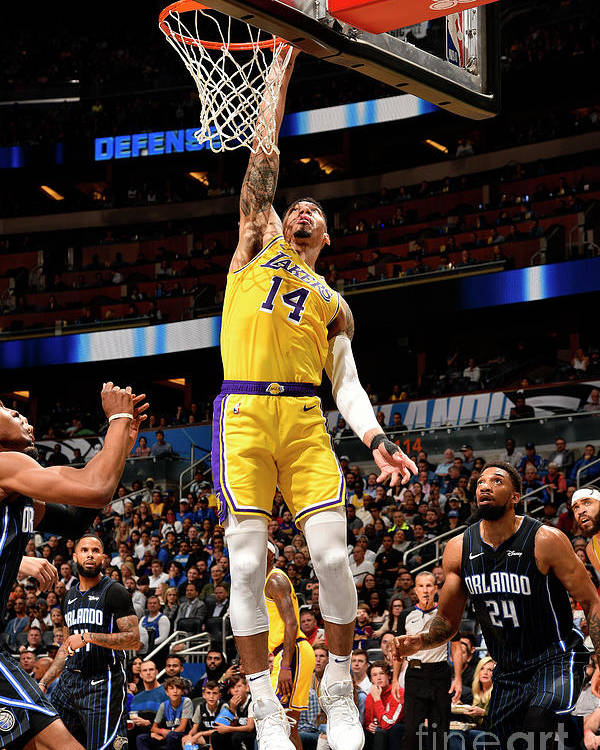 Nba Pro Basketball Poster featuring the photograph Los Angeles Lakers V Orlando Magic by Gary Bassing