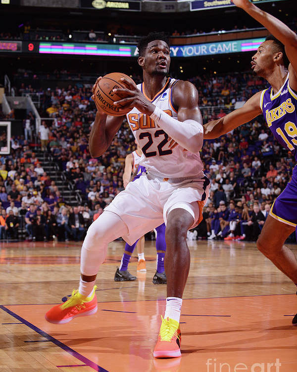 Nba Pro Basketball Poster featuring the photograph Los Angeles Lakers V Phoenix Suns by Michael Gonzales
