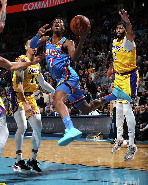 Nba Pro Basketball Poster featuring the photograph Los Angeles Lakers Vs Oklahoma City by Zach Beeker