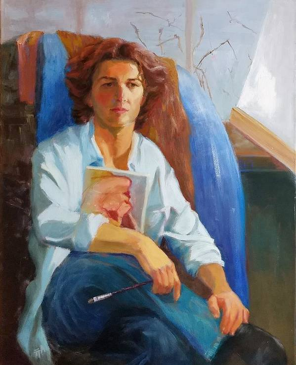 Portrait Poster featuring the painting Lost Model II by Irena Jablonski