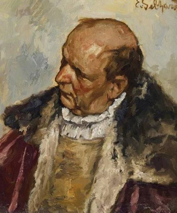 M Poster featuring the painting M Nnlicher Charakterkopf by Gebhardt Eduard von