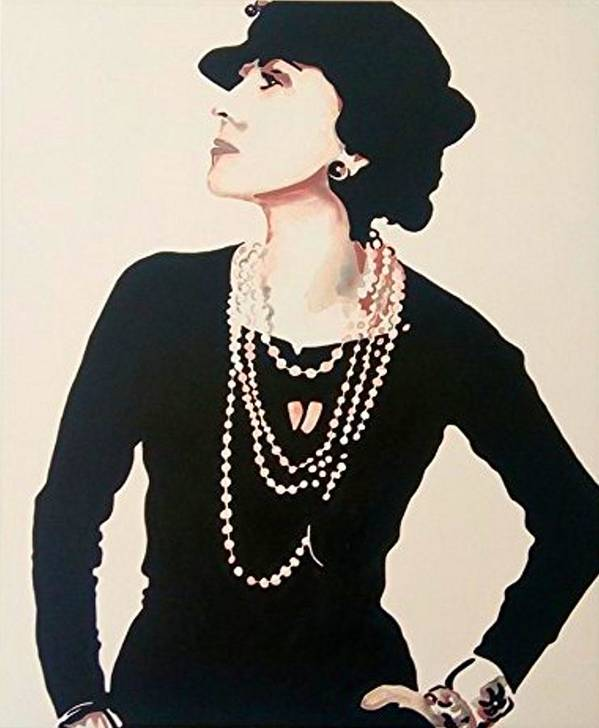 51b1c2066dd765 Gabrielle Bonheur Coco Chanel Poster featuring the painting Madame Coco  Chanel Portrait Of Gabrielle Bonheur by