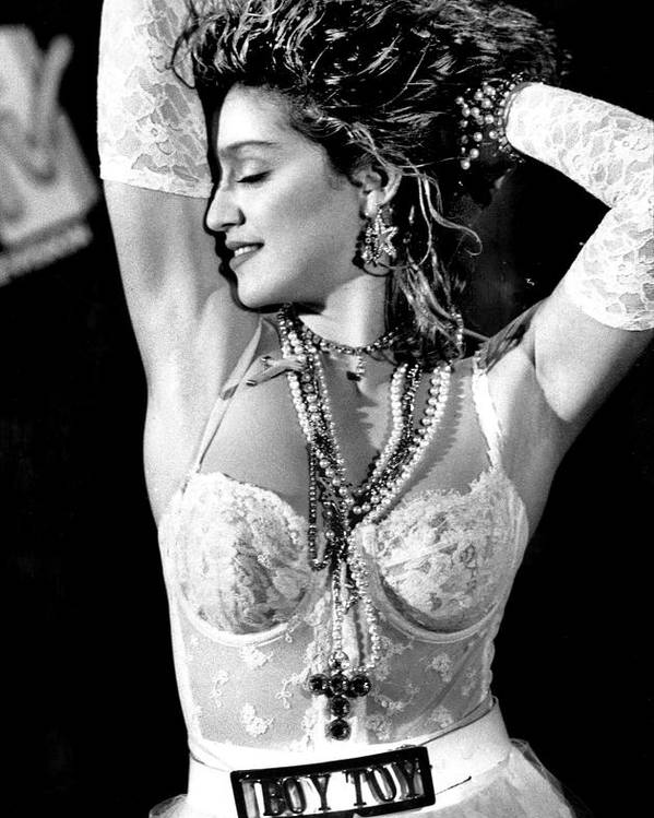 1980-1989 Poster featuring the photograph Madonna During A Performance At Mtv by New York Daily News Archive