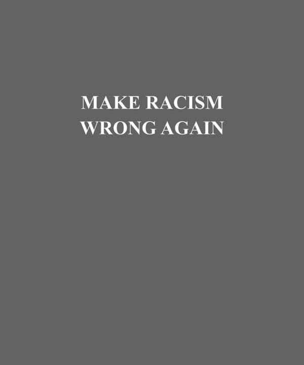 women's Shops Poster featuring the digital art Make Racism Wrong Again Anti-hate 86 45 Resist Message Shirt by Do David