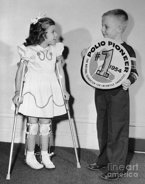 Polio Poster featuring the photograph March Of Dimes Poster Children Mary by Bettmann