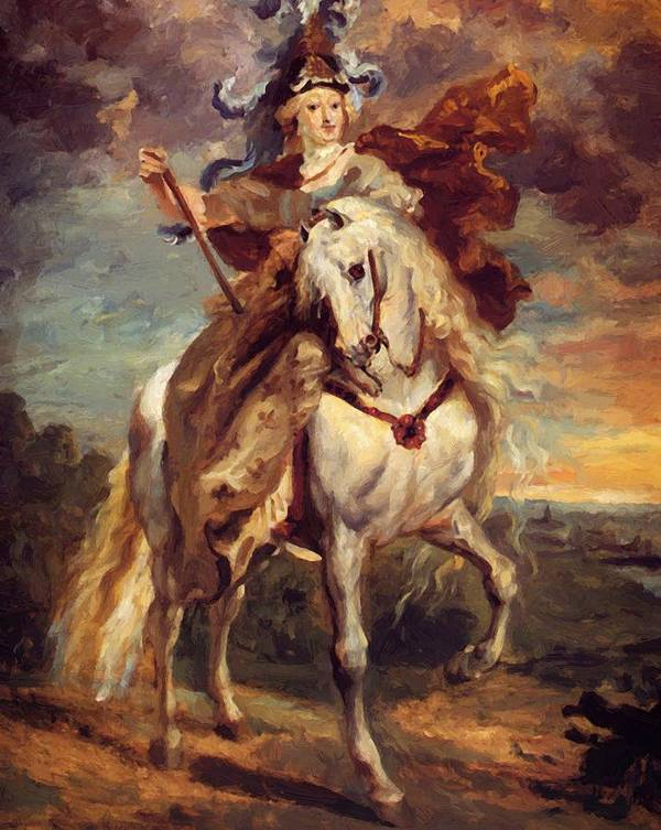 Marie Poster featuring the painting Marie De Medici At Pont De Ce by Gericault Theodore