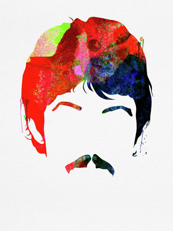 Paul Mccartney Poster featuring the mixed media McCartney Watercolor by Naxart Studio