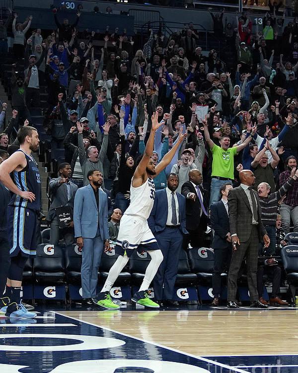 Nba Pro Basketball Poster featuring the photograph Memphis Grizzlies V Minnesota by Jordan Johnson