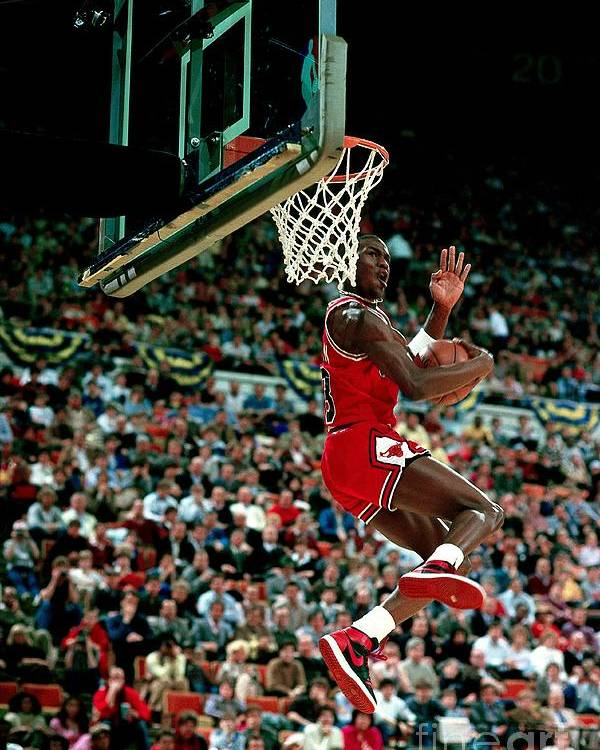 Chicago Bulls Poster featuring the photograph Michael Jordan Competes In The Nba All by Andrew D. Bernstein
