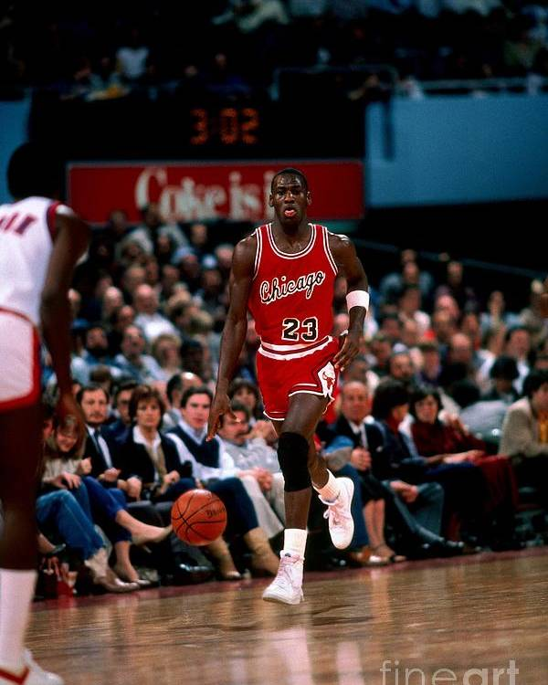 Chicago Bulls Poster featuring the photograph Michael Jordan by Peter Read Miller