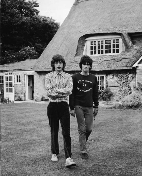 Rock Music Poster featuring the photograph Mick & Keith In The Country by Express Newspapers
