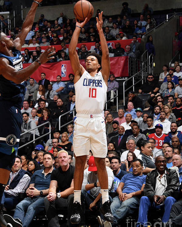 Jerome Robinson Poster featuring the photograph Minnesota Timberwolves V La Clippers by Adam Pantozzi