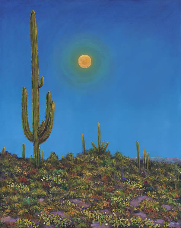 Arizona Poster featuring the painting Moonlight Serenade by Johnathan Harris