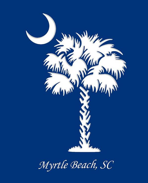 Myrtle Beach Poster featuring the digital art Myrtle Beach, Sc by Cynthia Leaphart