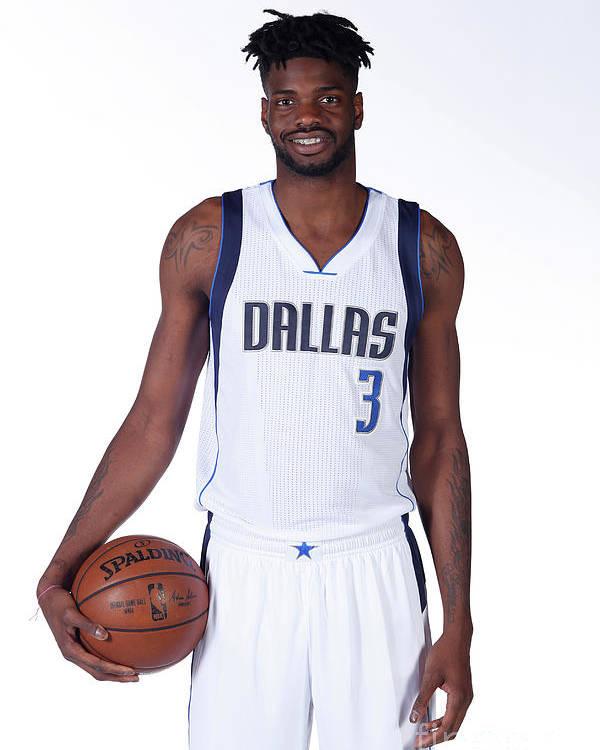 Nba Pro Basketball Poster featuring the photograph Nerlens Noel Dallas Mavericks Portraits by Glenn James