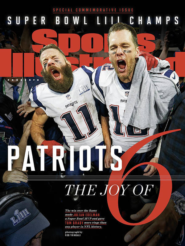 Atlanta Poster featuring the photograph New England Patriots, Super Bowl Liii Champions Sports Illustrated Cover by Sports Illustrated