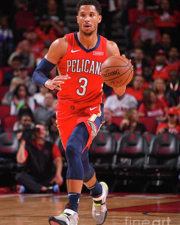 Nba Pro Basketball Poster featuring the photograph New Orleans Pelicans V Houston Rockets by Bill Baptist