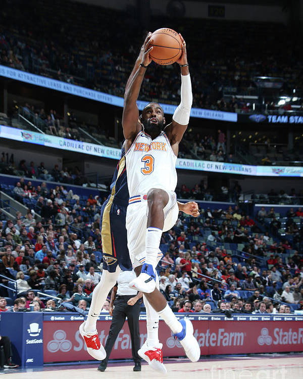 Tim Hardaway Jr. Poster featuring the photograph New York Knicks V New Orleans Pelicans by Layne Murdoch Jr.