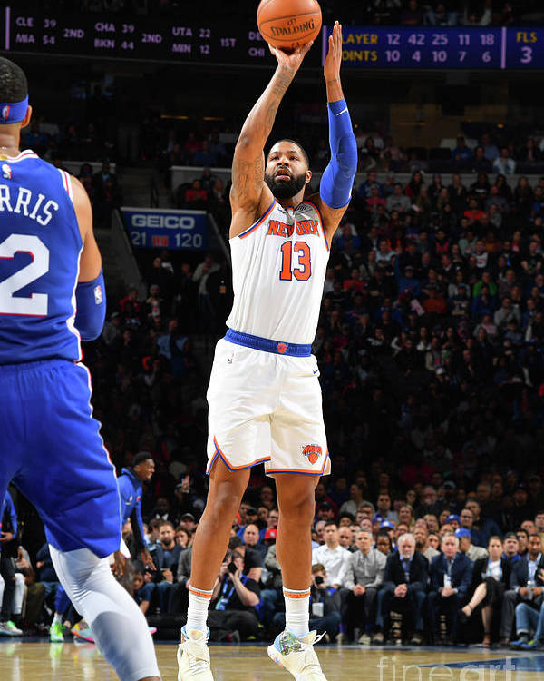 Nba Pro Basketball Poster featuring the photograph New York Knicks V Philadelphia 76ers by Jesse D. Garrabrant