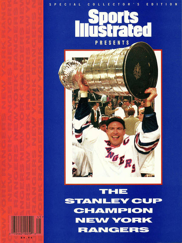 National Hockey League Poster featuring the photograph New York Rangers Mark Messier, 1994 Nhl Stanley Cup Finals Sports Illustrated Cover by Sports Illustrated