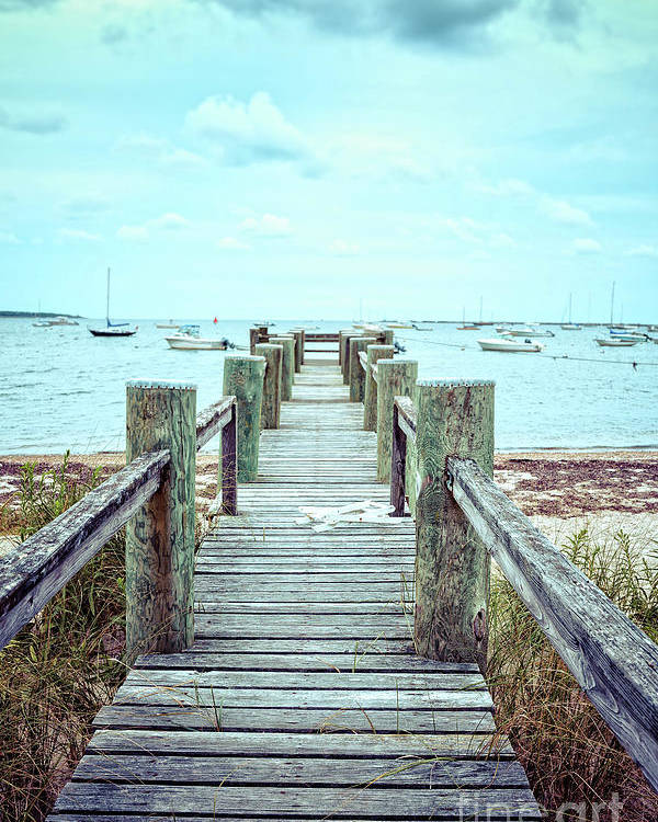 Dock Poster featuring the photograph Old Dock Hyannis Port Cape Cod Ma by Edward Fielding