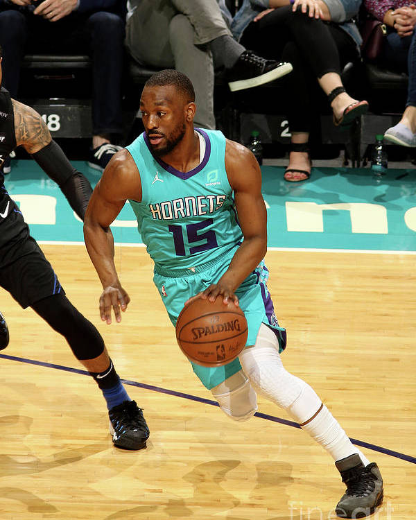 Kemba Walker Poster featuring the photograph Orlando Magic V Charlotte Hornets by Brock Williams-smith