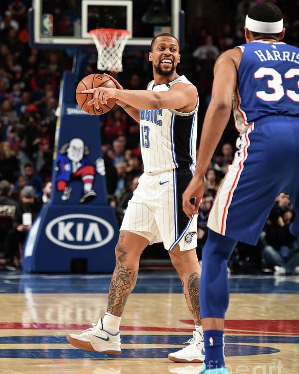 Nba Pro Basketball Poster featuring the photograph Orlando Magic V Philadelphia 76ers by David Dow